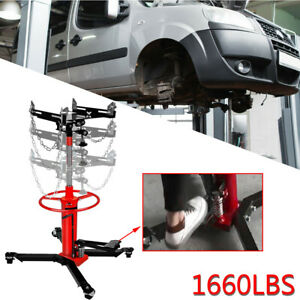 1660lbs 0 75ton Transmission Jack 2 Stage Hydraulic W 360 For Car Auto Lift Us