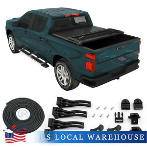 6 5 Ft Tri Fold Pickup Truck Bed Hard Cover For 2002 18 Dodge Ram 1500 2500 3500