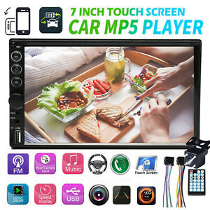 Bluetooth Player Stereo Radio Car 7 2 Din Mp5 Touch Screen Mirror Link For Gps