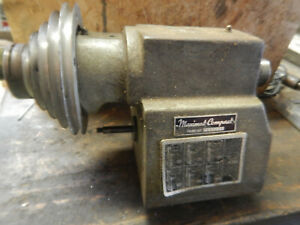 Older Emco Maximat Compact Metal Lathe Headstock Assembly W 1 1 2 8 Spindle