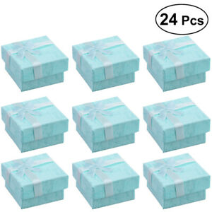 24x Jewellery Gift Boxes Bag Necklace Bracelet Ring Small Wholesale Present Lot