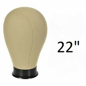 22 Cork Canvas Block Head Mannequin Style Hat Display Wig Building Mounting Hole