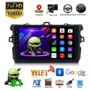 For Toyota Corolla 2006 2012 Gps Navigation Android 9 1 Car Stereo Radio Wifi Tp