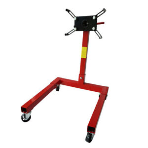 Engine Stand 1250lbs Capacity 360 Degree Head Motor Stand Tools In Red 4 Legs