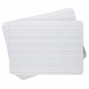 White Dry Erase Lapboards 12 pack Double Sided Plain And Lined Lap Board