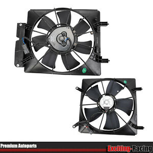 Fit 2002 2006 Honda Crv Element 2pc Ac Condenser Radiator Cooling Fan Assembly