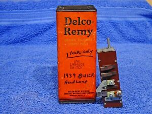 1939 Buick Delco Remy Head Light Lamp Switch Nos