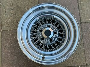 Vintage Appliance Wire Spoke Wheel 15 X 8 With 5 On 4 3 4 Bolt Pattern Nice