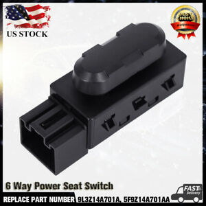 Driver Left Side Power Seat Switch 6 Way For Ford F150 Mercury 5f9z 14a701 Aa