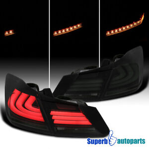 For 2013 2015 Honda Accord Sequential Led Drl Strip Signal Tail Lights Smoke