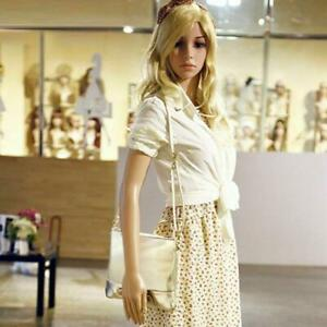69 3 Full Body Realistic Mannequin Display Head Turns Dress Form With Base Usa