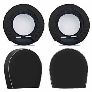 Spare Tire Cover For Trailers tire Covers 4 Pack four Layers Dia 28in Black