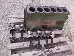 Oliver Super 77 S77 Tractor Engine Motor 185220 Block W M w More Power Pistons