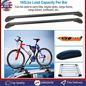 Universal Car Top Roof Rack Cross Bar 43 3 Luggage Carrie Adjustable