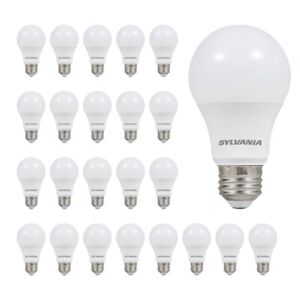 Sylvania Led Light Bulb 60w Equivalent Efficient 85w Frosted Daylight 24pk