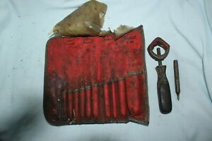 Vintage Snap On Punch Chisel Set Pouch C 105 Not Complete