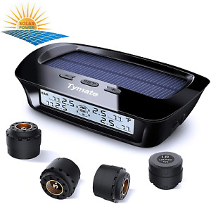Tymate Tire Pressure Monitoring System solar Charge 5 Alarm Modes Auto Sleep
