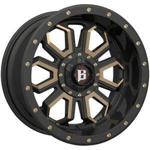 4 Ballistic 967 Saber 20x10 5x5 5 5x150 24mm Black Bronze Wheels Rims 20 Inch