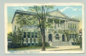 Janesville Wisconsin Wi Public Library 1921