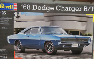 1968 Dodge Charger R t Revell 1 25 Scale Plastic Model Car Kit