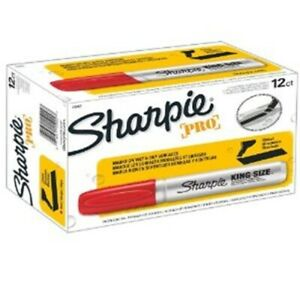 Sharpie 15002 King Size Water resistant Chisel tip Permanent Marker 1 Ea Red