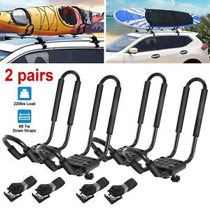 Universal J Cross Bar Kayak Roof Rack Car Suv Truck Top Mount Carrier Bracket