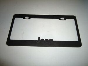 Black License Plate Frame Jeep Logo