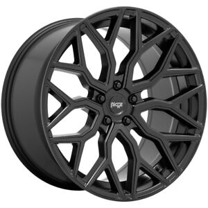 4 niche M261 Mazzanti 22x10 5x130 30mm Matte Black Wheels Rims 22 Inch