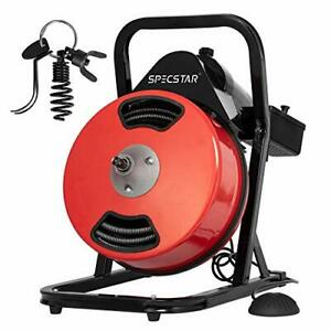 Vivohome 50 Feet 1 2 Inch Electric Drain Auger With 4 Cutter Foot Switch Sewer