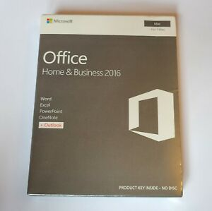 Microsoft Office Home Business 2016 For Mac New Word Excel Outlook Powerpoint