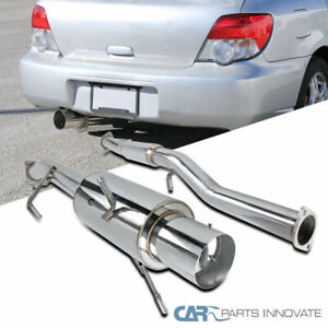 For 02 07 Subaru Impreza Wrx Sti Replacement S s Catback Exhaust Muffler System