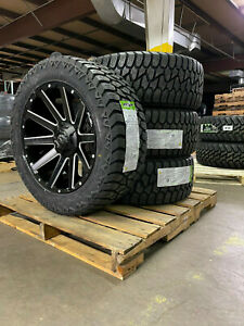 20x9 D616 Fuel Contra Black Wheels 32 Amp At Tires 6x5 5 Toyota Tacoma 4runner