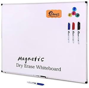 Xboard Double sided 36 X 24 Inch Magnetic Dry Erase Board Set Wall Mounted 3