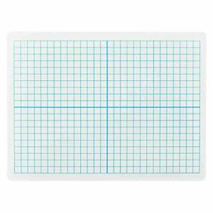 Dry Erase Lapboards With Grid Lines Pack Of 1 Graph Whiteboard 9x12 Stu