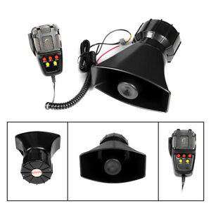 Yhaavale 100w 5 Tone Car Siren Horn Alarm With Mic Speaker System For Motorcycle