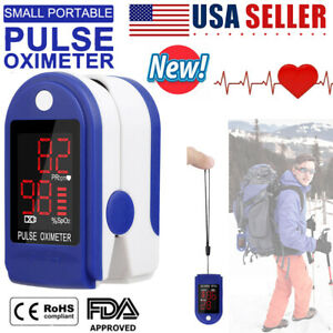 Fingertip Pulse Oximeter Heart Rate Blood Oxygen Spo2 Monitor Pr Saturation Fda