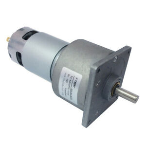 Dc 12v 24v Gear Motor 3 300rpm With Gearbox Reducer High Torque Parallel Shaft