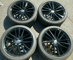 Four 2021 Toyota Camry Factory 19 Wheels Tires Oem Rims Gloss Black