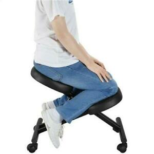 Black Ergonomic Kneeling Chair Adjustable Stool For Home And Office Us Stock
