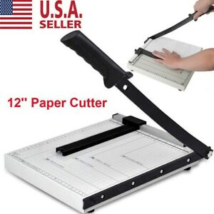 Paper Cutter 12 A4 To B7 Metal Base Guillotine Page Trimmer Blade Scrap Booking