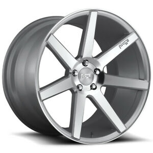 4 niche M179 Verona 20x9 5x4 5 35mm Silver Wheels Rims 20 Inch