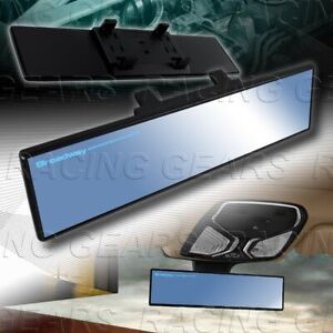Universal Blue Broadway 240mm Wide Flat Tint Interior Clip On Rear View Mirror
