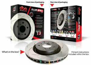 Dba Front Slotted 5000 Series 2 Piece Rotor Assembled W Black Hat For 08 Evo X