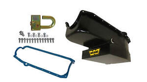 Weiand Oil Pan Kit 6qt Black Finish For 58 79 Small Block Chevy