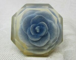 Vintage Lucite Blue Flower Gear Shift Knob