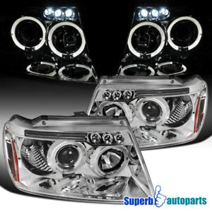 For 1999 2004 Jeep Grand Cherokee Led Halo Projector Headlights
