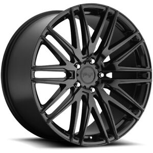 4 niche M164 Anzio 22x9 5x4 5 38mm Gloss Black Wheels Rims 22 Inch