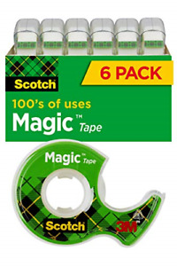Scotch Magic Tape 6 Rolls Numerous Applications Invisible Engineered For 3 4