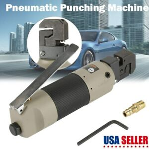 Pneumatic Metal Sheet Puncher Air Hole Punch Flange Punching Tools W Connector