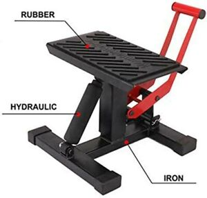 New Motorcycle Jack Dirt Bike Stand Adjustable Lift Hoist Table Height Lifting